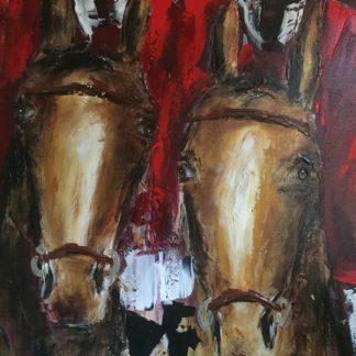 Theo Broeren: twee paarden