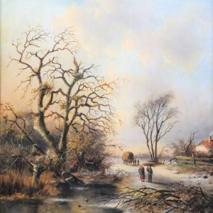 J. Corver (Jacob Jan Coenraad Spohler (1837-1922)) Wintergezicht